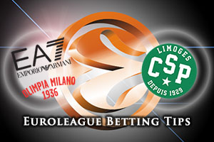 EA7 Emporio Armani Milan v Limoges CSP Betting Tips