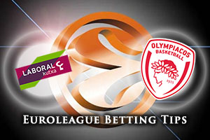 Laboral Kutxa Vitoria Gasteiz v Olympiacos Piraeus Betting Tips