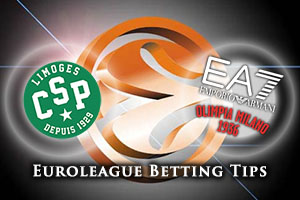Limoges CSP v Emporio Armani Milan Betting Tips