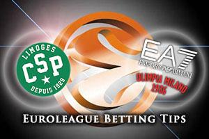 Limoges CSP v Emporio Armani Milan Betting Tips