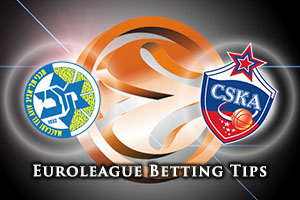Maccabi FOX Tel Aviv v CSKA Moscow Betting Tips