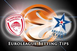 Olympiacos Piraeus v Anadolu Efes Istanbul Betting Tips