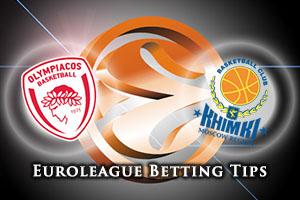 Olympiacos Piraeus v Khimki Moscow Region Betting Tips