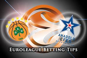 Panathinaikos Athens v Anadolu Efes Istanbul Betting Tips