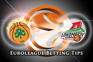Panathinaikos Athens v Lokomotiv Kuban Krasnodar Betting Tips