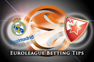 Real Madrid v Crvena Zvezda Telekom Belgrade Betting Tips