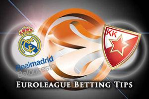 Real Madrid v Crvena Zvezda Telekom Belgrade Betting Tips