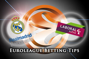 Real Madrid v Laboral Kutxa Vitoria Gasteiz Betting Tips