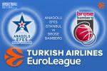 9 March 2017 Euroleague – Anadolu Efes Istanbul v Brose Bamberg