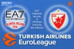 16 March 2017 Euroleague – EA7 Emporio Armani Milan v Crvena Zvezda mts Belgrade