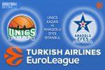 3 March 2017 Euroleague – Unics Kazan v Anadolu Efes Istanbul
