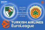 9 March 2017 Euroleague – Zalgiris Kaunas v Panathinaikos Superfoods Athens