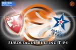 26 February Euroleague Top 16 Group E – Crvena Zvezda Telekom Belgrade v Anadolu Efes Istanbul