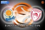 31 March Euroleague Top 16 Group F – Khimki Moscow Region v Olympiacos Piraeus