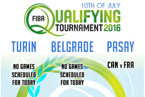 FIBA Qualifying Games - 10th of July 2016