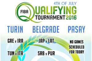 FIBA Qualifying Games - 4th of July 2016