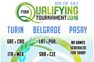 FIBA Qualifying Games - 8th of July 2016