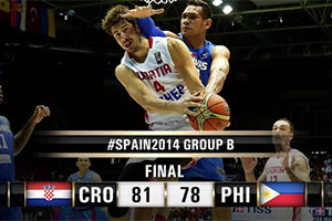 FIBA World Cup 2014 - Croatia vs Philippines