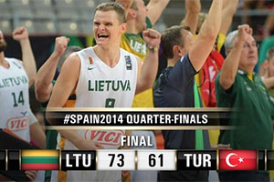 FIBA World Cup 2014 - Lithuania vs Turkey