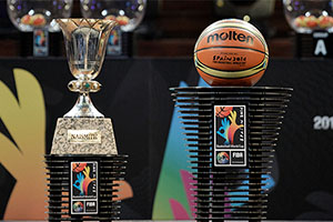 Naismith Throphy and Game Ball FIBA World Cup 2014