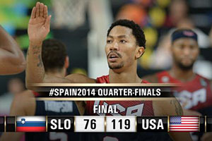 FIBA World Cup 2014 - Slovenia vs USA