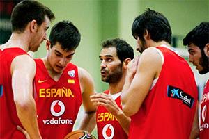 Jose Calderon Instructing Spanish Team Mates