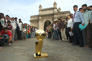 The Larry O'Brien Trophy in India