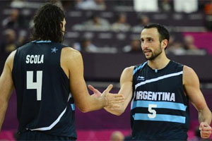 Luis Scola and Manu Ginobili