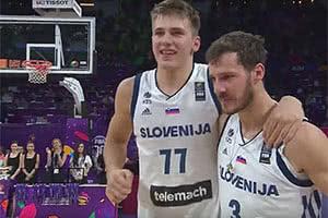 Luka Doncic and Goran Dragic