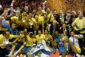 Maccabi Electra Tel Aviv Celebrating Euroleague Title