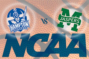 March Madness 2015 - Hampton Pirates v Manhattan Jaspers