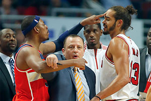 Paul Pierce and Joakim Noah Brawl