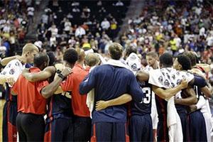 Team USA Hugging After Paul George's Injury
